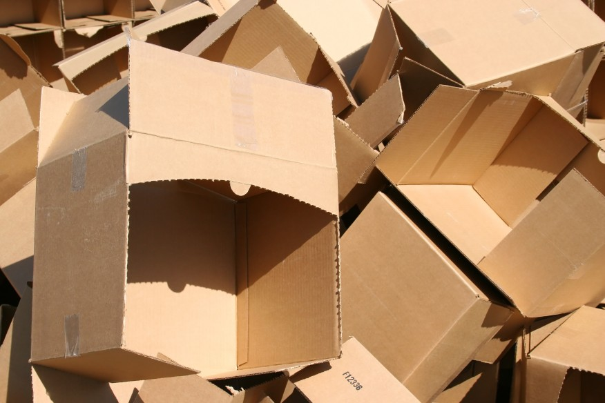 recycling of cardboard clean dot waste